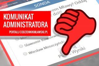 WAŻNE! Sonda wyborcza: Komunikat administratora