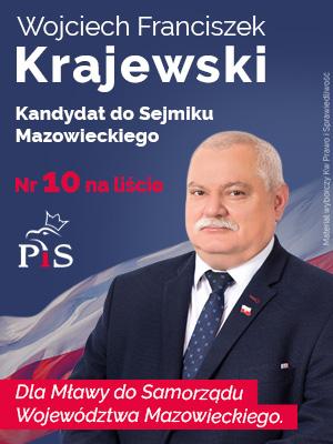Wojciech Franciszek Krajewski kandydat do Sejmiku Mazowieckiego Mława wybory samorządowe 2018