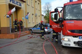 Alarm i ewakuacja w budynku KPP w Mławie