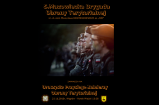 Zaprzysiężenie nowych terytorialsów tym razem w Węgrowie
