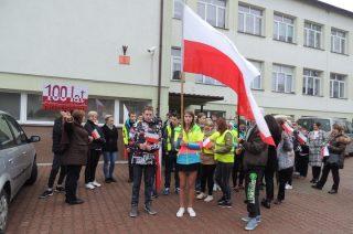 Marszem, akademią i hymnem uczcili 100. Rocznicę odzyskania niepodległości