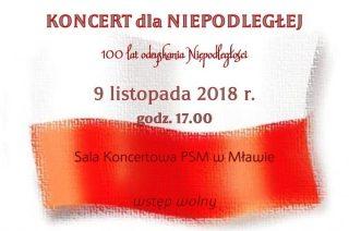 Koncert dla Niepodległej w szkole muzycznej