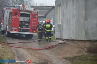 Pożar piwnicy w Łomi