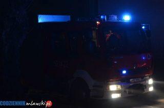 Strzegowscy strażacy zadziałali błyskawicznie