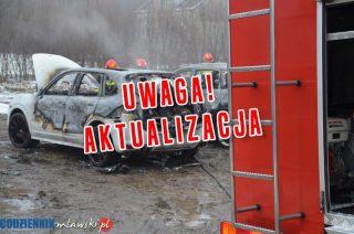 AKTUALIZACJA: Szydłowo. Zemsta gangu, spłonęły dwa samochody