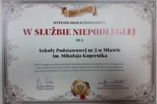 Szkoła Podstawowa nr 2 doceniona przez MEN i posła na Sejm RP