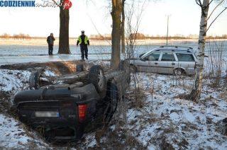 Wypadek koło Woli Dębskiej. Czwórka dzieci i kobieta w szpitalu