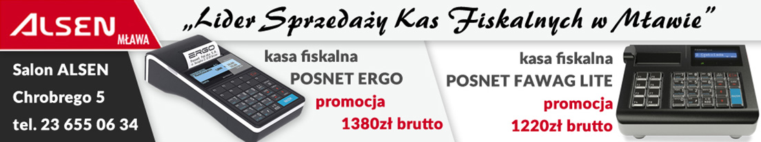 Alsen komputery kasy fiskalne Mława