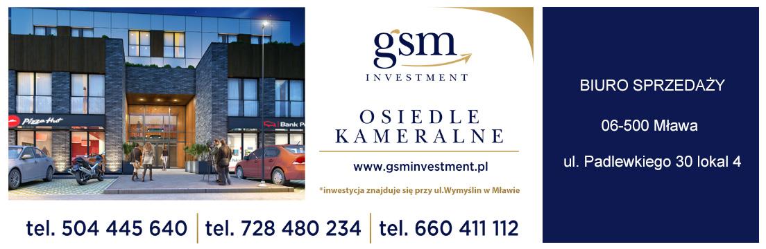 Nowa nwestycja Osiedle Kameralne Mława GSM Investment