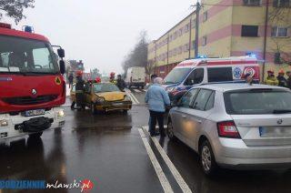 Zderzenie trzech aut na Dobrskiej