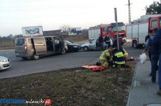 Wypadek w okolicach LG. Są osoby ranne