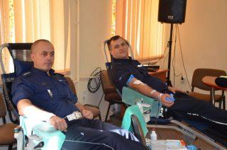 Mławscy policjanci i pracownicy cywilni też honorowo oddawali krew