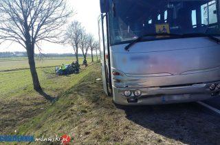 Zderzenie autobusu z osobowówką