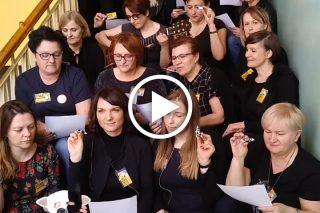 Strajkujący nauczyciele z ZPO nr 2 nagrali piosenkę