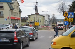 Zamknięta Lelewela i wjazd w Kościuszki, Ordona dwukierunkowa, Reymonta nadal przejezdna