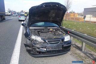 Zderzenie dwóch samochodów osobowych na DK7 koło Kuklina