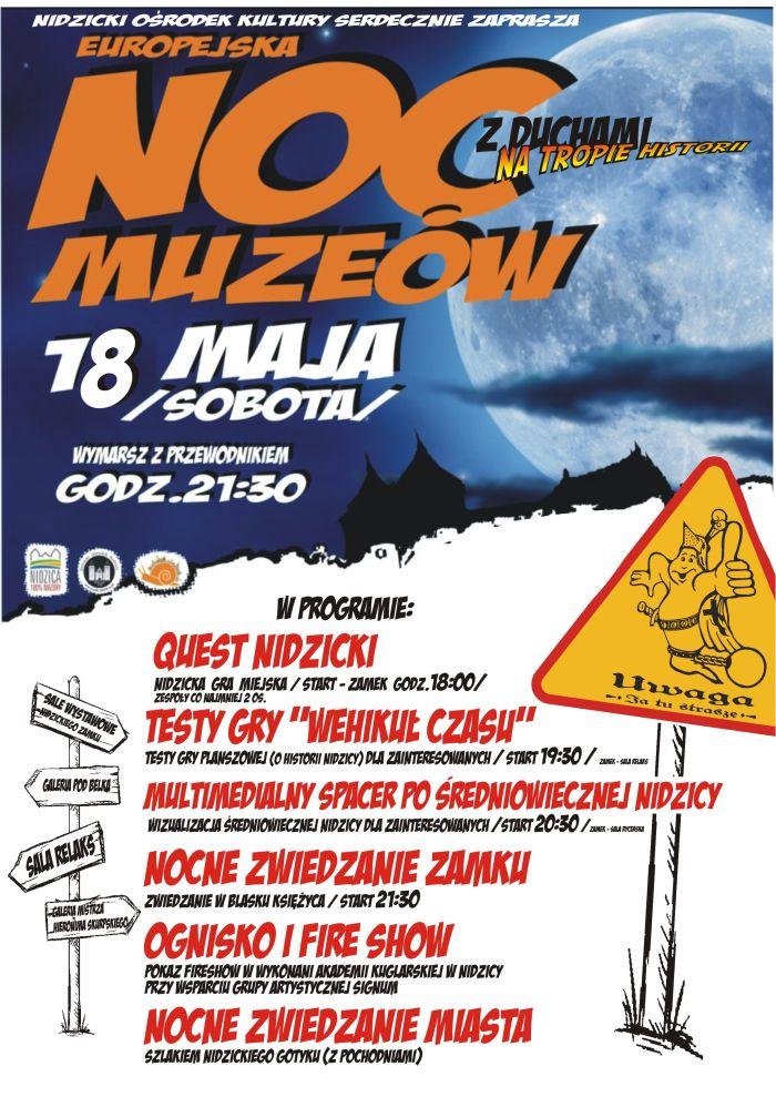 Noc Muzeów 2019 program atrakcje muzea Nidzica