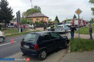 Zderzenie na skrzyżowaniu Warszawskiej i Wiśniowej