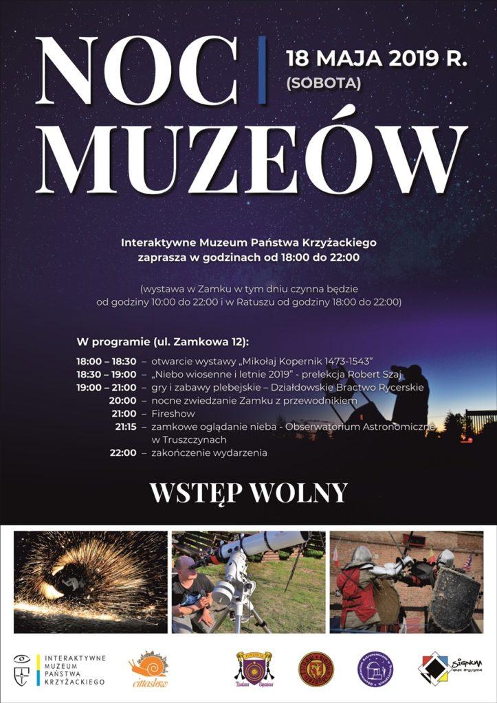 Noc Muzeów 2019 program atrakcje muzea Działdowo