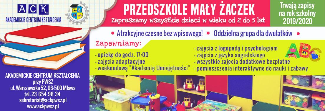 Przedszkole Mały Żaczek zapisy Mława
