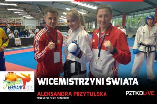 Ola Przytulska z Mławy mistrzynią i wicemistrzynią świata w Taekwon-Do