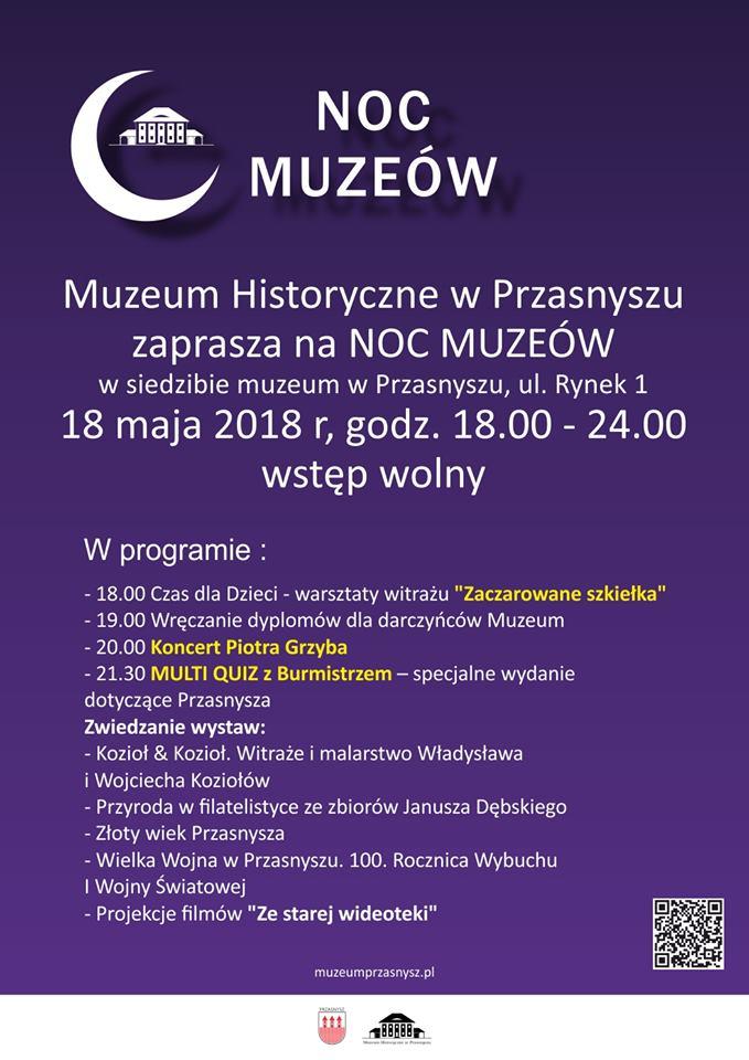 Noc Muzeów 2019 program atrakcje muzea Przasnysz