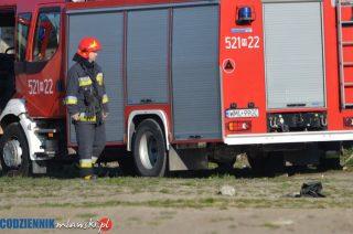 Pożar poddasza budynku mieszkalnego w Dąbku