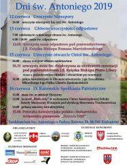 Sanktuarium w Ratowie zaprasza na IX Dni Świętego Antoniego