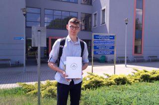 Łukasz Wysocki finalistą XVII Warmińsko-Mazurskich Zawodów Matematycznych