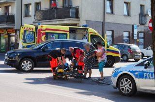 Potrącenie rowerzysty na Padlewskiego