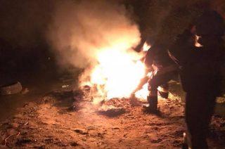 W noc świętojańską znów płonęły opony