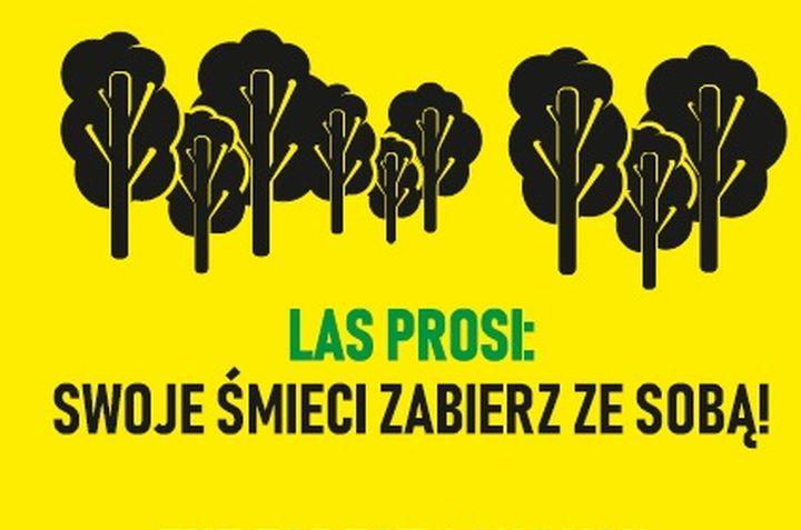 W lesie staną nowe tablice zachęcające by nie śmiecić