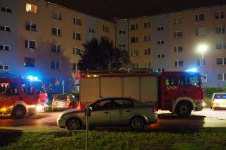 Nocna interwencja straży na Osiedlu Młodych