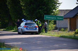 Potrącenie rowerzysty w Sławogórze Nowej