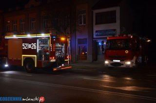 Nocny pożar na Żwirki