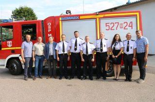 Litewscy strażacy z wizytą w mławskiej OSP