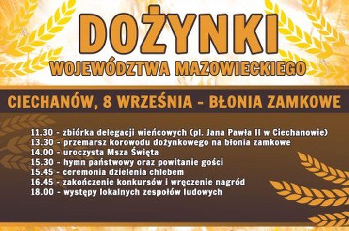 Dożynki Województwa Mazowieckiego w Ciechanowie