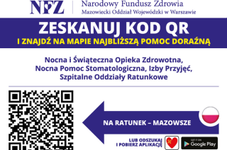 """Na ratunek"" mapa i aplikacja na telefon od NFZ Mazowsze"
