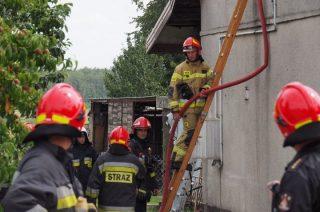 Pożar domu w Rumoce