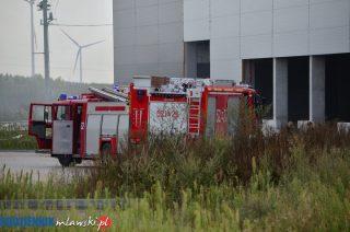 Pożar w hali magazynowej w Szydłowie