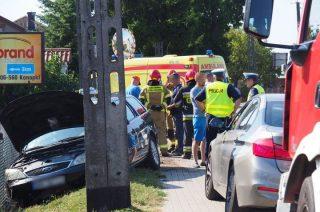 Zderzenie trzech aut w Żurominku
