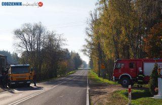 Wypadek w Krośnicach [zdjęcia]