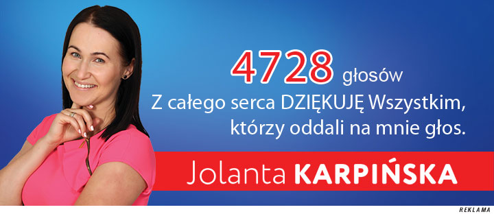 Jolanta Karpińska podziękowania