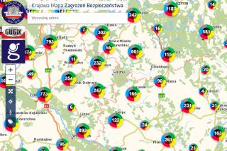 Coraz więcej zgłoszeń na mapie zagrożeń w powiecie mławskim