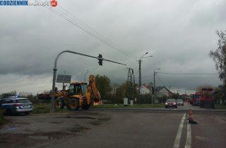 Znikają garby na skrzyżowaniu Nowowiejskiej i DK 7. Będzie łatwiej przejechać