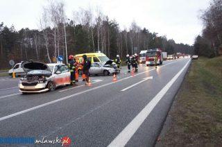 """AKTUALIZACJA: Są ustalenia policji. Wypadek na skrzyżowaniu Marszałkowskiej i """"siódemki"""". [zobacz zdjęcia]"""