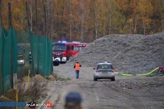 Pożar na składowisku odpadów w Miączynie Dużym [zobacz film i foto]