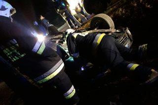 Dachowanie auta pod Strzegowem. Jedna osoba poszkodowana