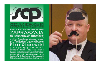 Czwartkowy wieczór z poezją i Piotrem Olszewskim