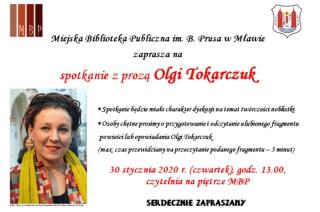 Spotkanie z prozą Olgi Tokarczuk